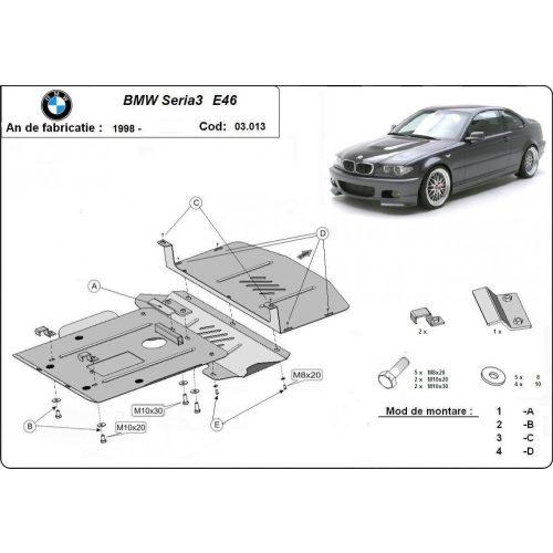 BMW 3 E46 1998-2004 - Motorvédő lemez