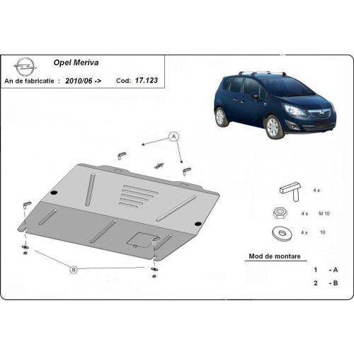 Opel Meriva B, 2010-2020 - Acél Motorvédő lemez