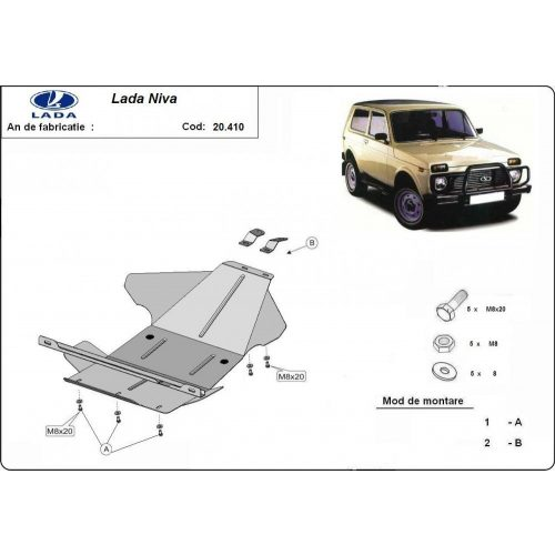 Lada Niva, 1995-2019 - Motorvédő lemez