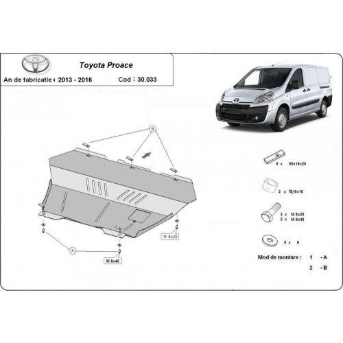 Toyota Proace, 2013-2016 - Motorvédő lemez