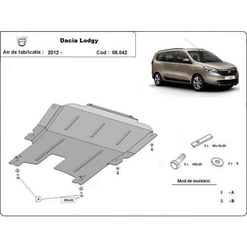 Dacia Lodgy, 2012-2020 - Motorvédő lemez