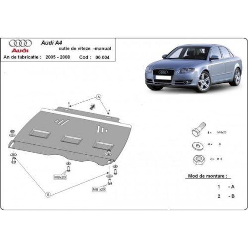 Audi A4, 2005-2008 - Acél MANUÁL váltóvédő lemez