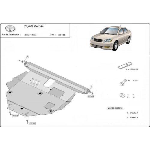 Toyota Corolla, 2002-2007 - Acél Motorvédő lemez
