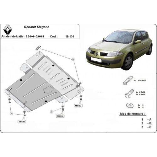 Renault Megane, 2004-2008 - Motorvédő lemez