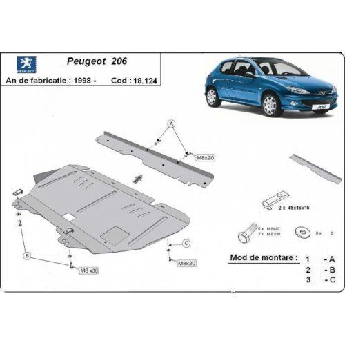 Peugeot 206, 1998-2020 - Motorvédő lemez