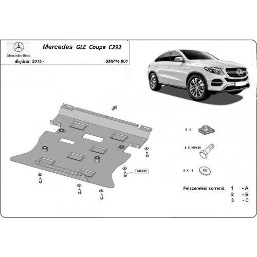Mercedes GLE Coupe C292, 2015-2020 - Acél Motorvédő lemez