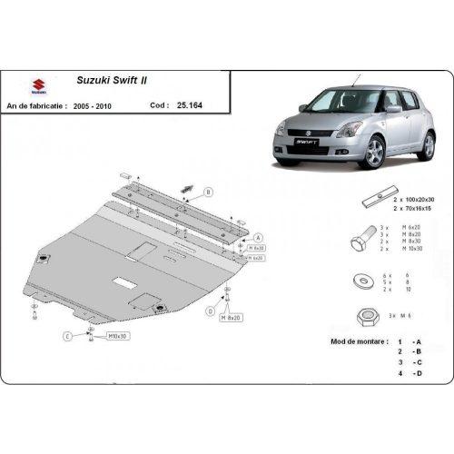 Suzuki Swift II, 2005-2010 - Acél Motorvédő lemez