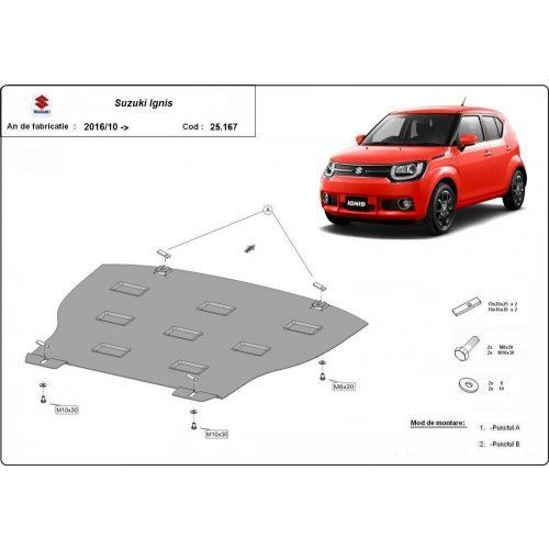 Suzuki Ignis, 2017-2020 - Acél Motorvédő lemez