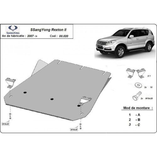 Ssangyong Rexton II 2007-2020 - Acél Váltóvédő lemez