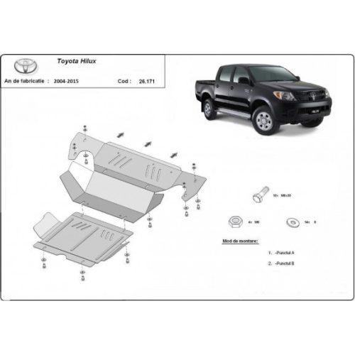Toyota Hilux, 2004-2015 - Acél Motor- Acél és hűtővédő lemez