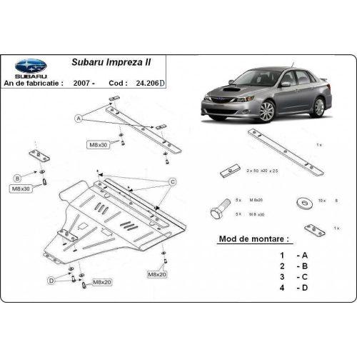 Subaru Impreza, 2007-2020 - Motorvédő lemez