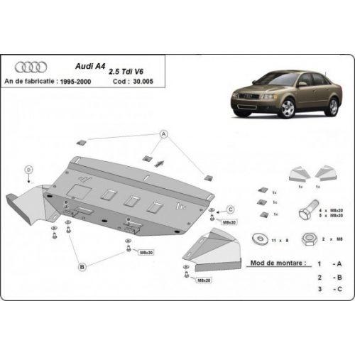 Audi A4, 1997-2000 - Motorvédő lemez