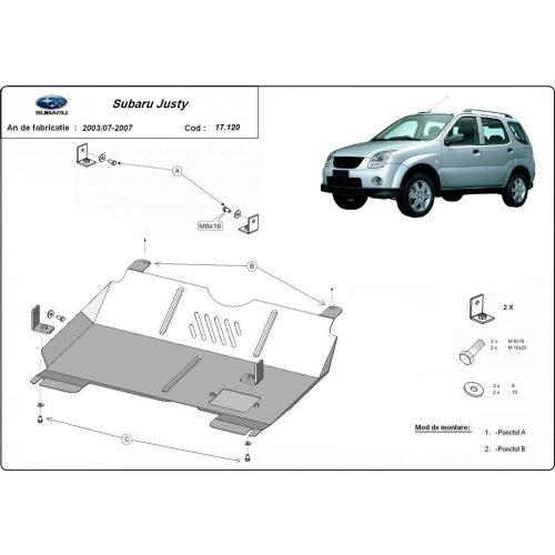 Subaru Justy, 2003-2007 - Motorvédő lemez