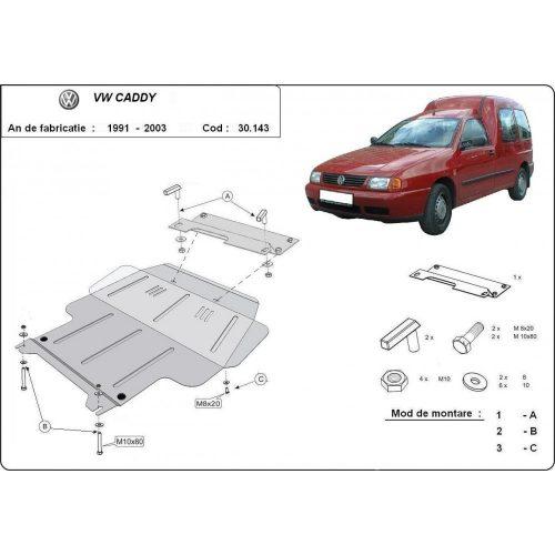 VW Caddy, 1991-2003 - Motorvédő lemez