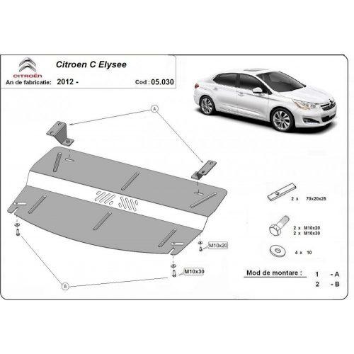 Citroen C Elysee 2012-2020 - Motorvédő lemez