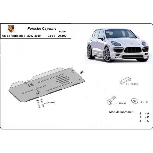 Porsche Cayenne, 2002-2010 - Acél Váltóvédő lemez
