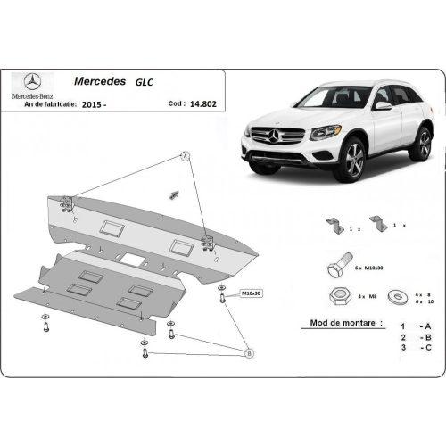 Mercedes GLC X253, 2015-2020 - Acél Motorvédő lemez