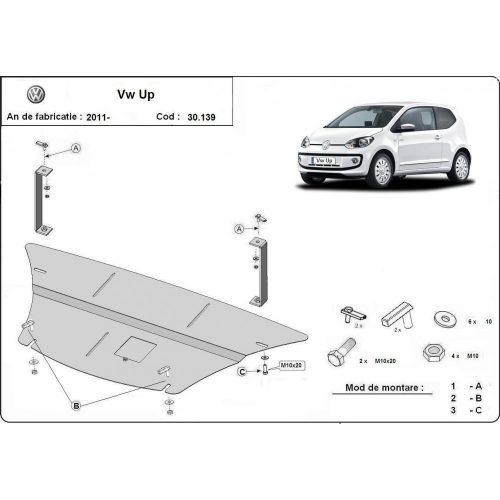 VW Up, 2011-2020 - Acél Motorvédő lemez