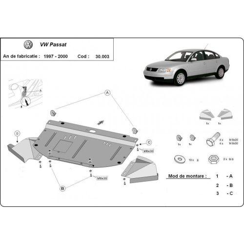 VW Passat B5, 1997-2000 - Motorvédő lemez