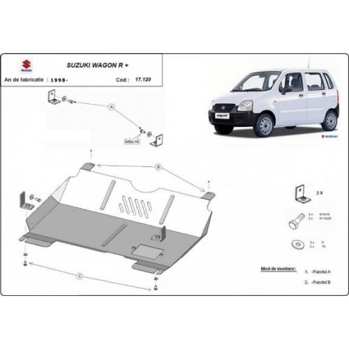 Suzuki Wagon R+, 1998-2020 - Motorvédő lemez