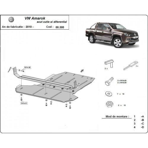 VW Amarok, 2010-2020 - Váltóvédő lemez