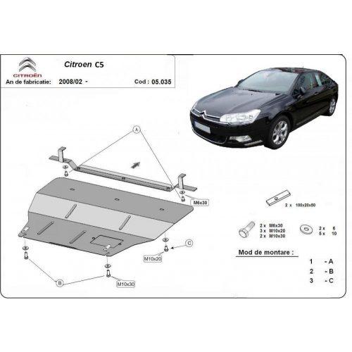 Citroen C5, 2010-2020 - Motorvédő lemez