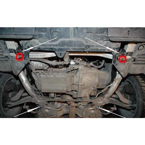 Citroen C5, 2010-2020 - Acél Motorvédő lemez