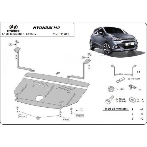 Hyundai i10, 2012-2017 - Motorvédő lemez