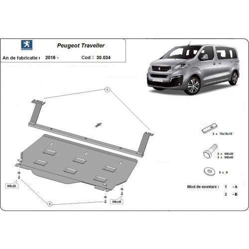 Peugeot Traveller Kisteherautó, 2016-2020 - Motorvédő lemez