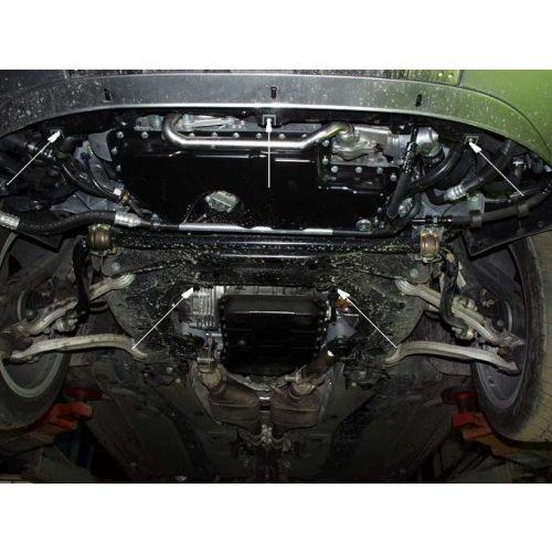 Audi A6, 1997-2004 - Acél Motorvédő lemez