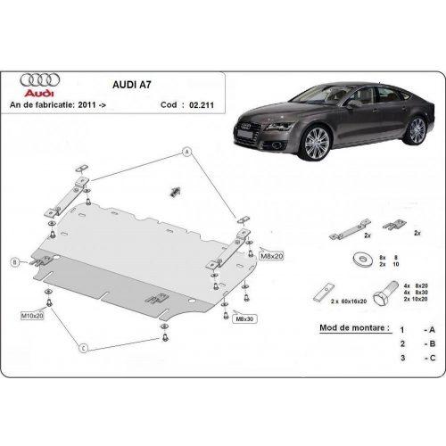 Audi A7, 2011-2018 - Acél Motorvédő lemez