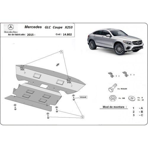 Mercedes GLC Coupe X253, 2015-2020 - Acél Motorvédő lemez