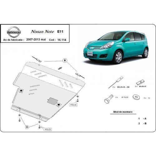 Nissan Note, 2007-2013 - Acél Motorvédő lemez