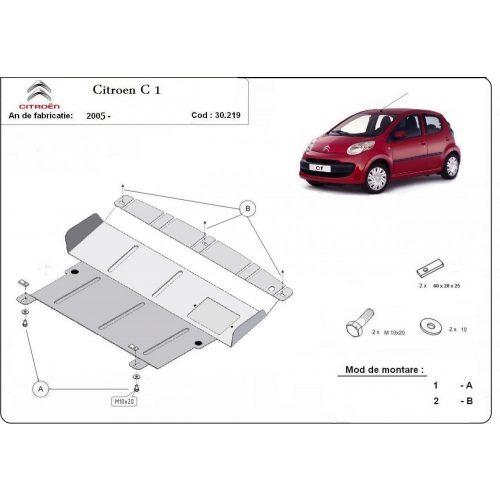 Citroen C1, 2005-2018 - Acél Motorvédő lemez