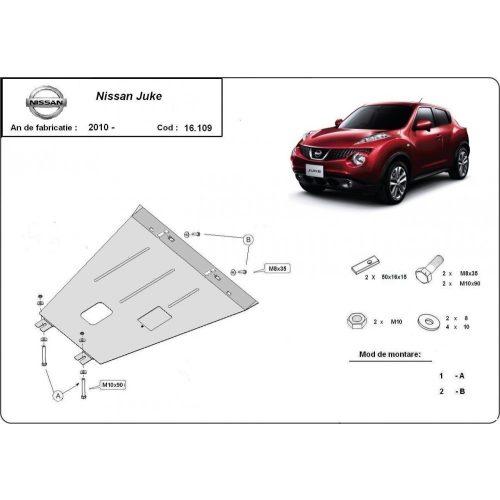 Nissan Juke, 2010-2020 - Motorvédő lemez