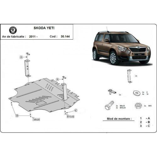 Skoda Yeti, 2011-2020 - Acél Motorvédő lemez