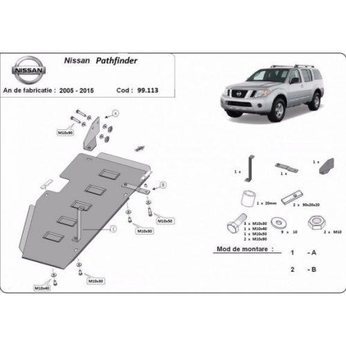 Nissan Pathfinder D40, 2005-2015 - Üzemanyagtank védő