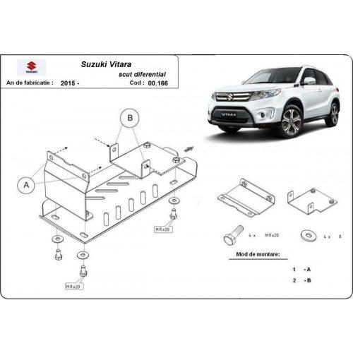 Suzuki Vitara, 2015-2020 - Acél Differenciálmű védő lemez