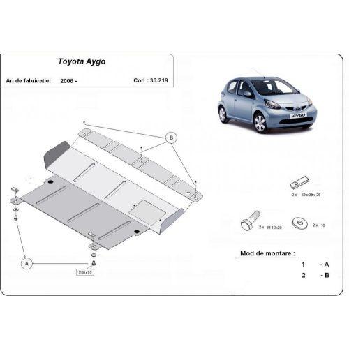 Toyota Aygo, 2005-2014 - Acél Motorvédő lemez