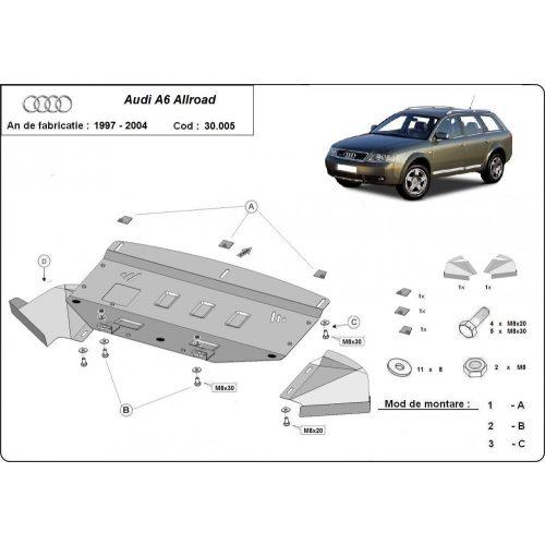 Audi Allroad, 2000-2005 - Motorvédő lemez