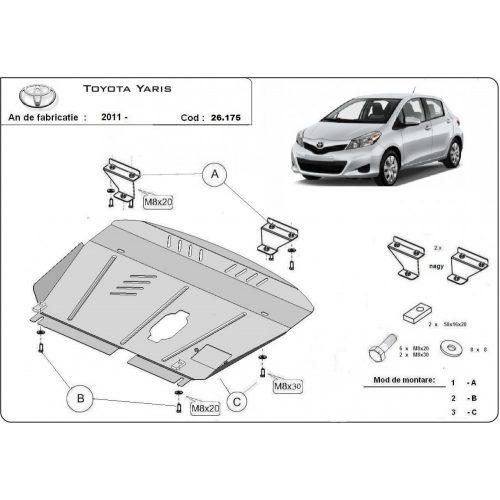 Toyota Yaris, 2011-2020 - Motorvédő lemez