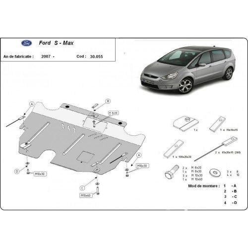 Ford S-Max, 2006-2015 - Acél Motorvédő lemez