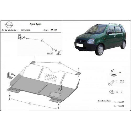 Opel Agila (H00), 2000-2007 - Motorvédő lemez