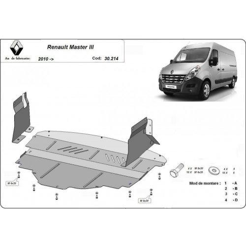 Renault Master, 2010-2020 - Acél Motorvédő lemez