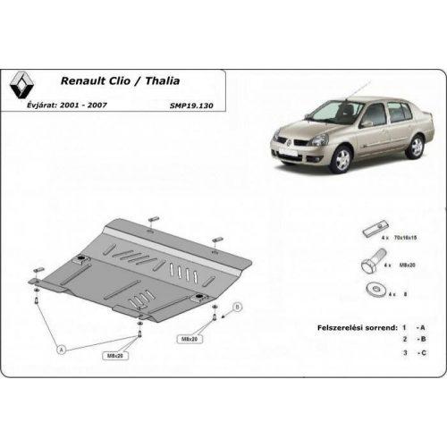 Renault Clio/Thalia, 1997-2007 - Acél Motorvédő lemez