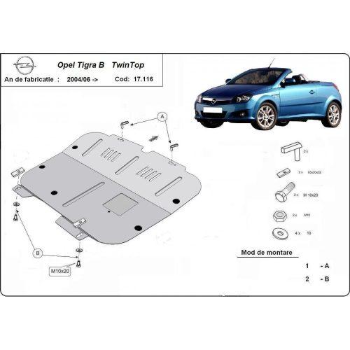 Opel Tigra, 2004-2020 - Acél Motorvédő lemez