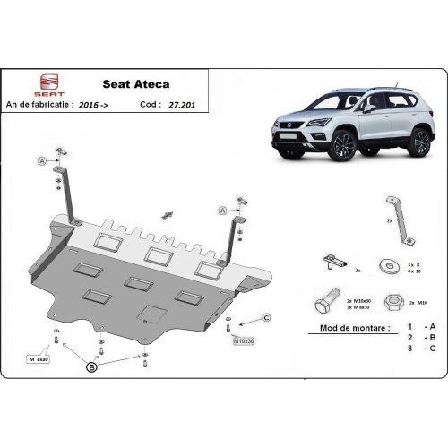 Seat Ateca, 2016-2020 - Acél Motorvédő lemez