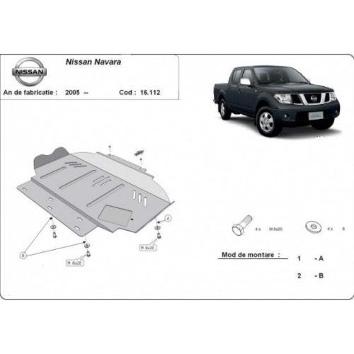 Nissan Navara, 2005-2020 - Motorvédő lemez