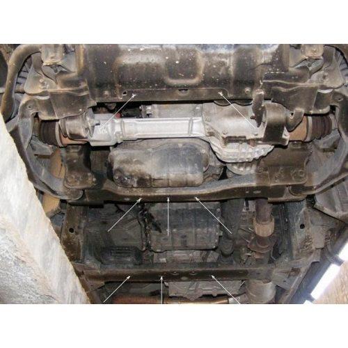 Nissan Navara, 2005-2020 - Acél Motorvédő lemez