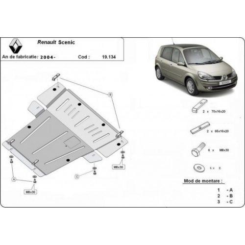 Renault Scenic, 2004-2008 - Motorvédő lemez
